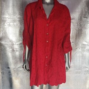 Susan graves  style  red Blause  xl